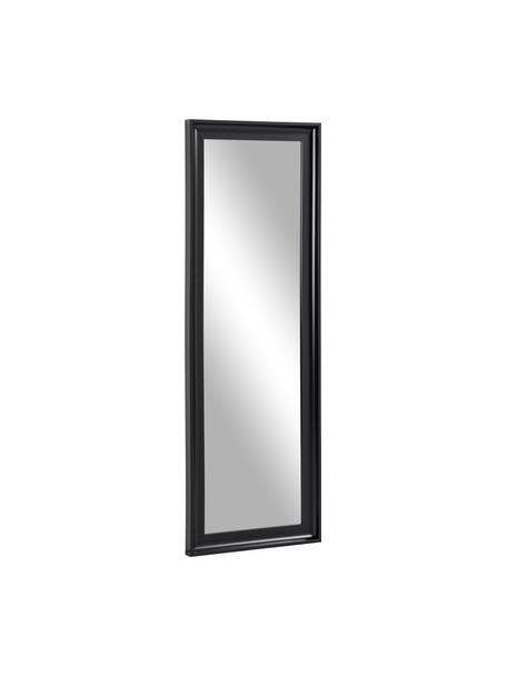 Specchio da parete Romila, Cornice: materiale sintetico, Superficie dello specchio: lastra di vetro, Nero, Larg. 52 x Alt. 153 cm