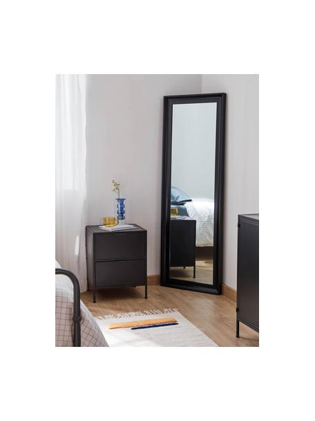 Wandspiegel Romila in zwart, Lijst: kunststof, Zwart, 52 x 153 cm