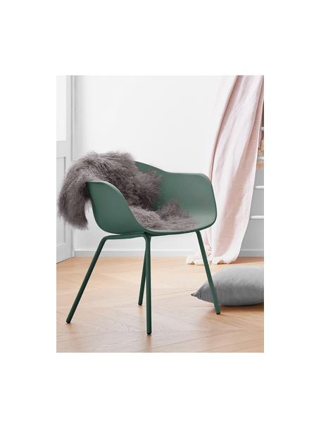 Silla con reposabrazos Claire, Asiento: plástico, Patas: metal con pintura en polv, Verde, An 60 x F 54 cm