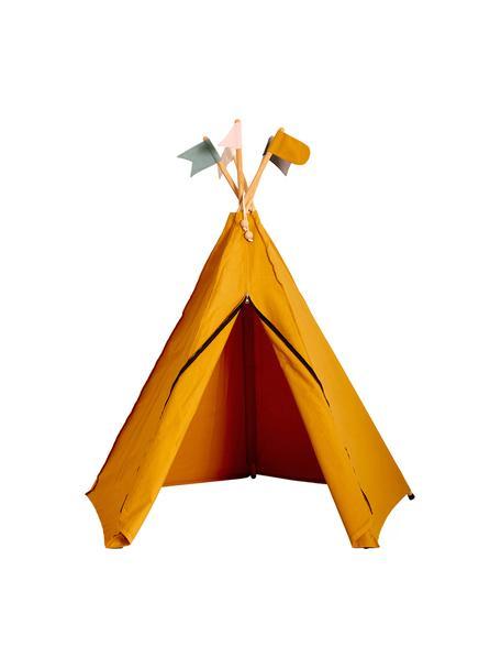 Kinder-Tipi Hippie aus Bio-Baumwolle, 100% Biobaumwolle, Ockergelb, 135 x 135 cm