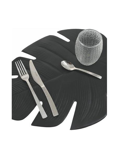 Set 6 tovagliette americane in plastica Jungle, Materiale sintetico (PCV), Nero, Larg. 37 x Lung. 47 cm