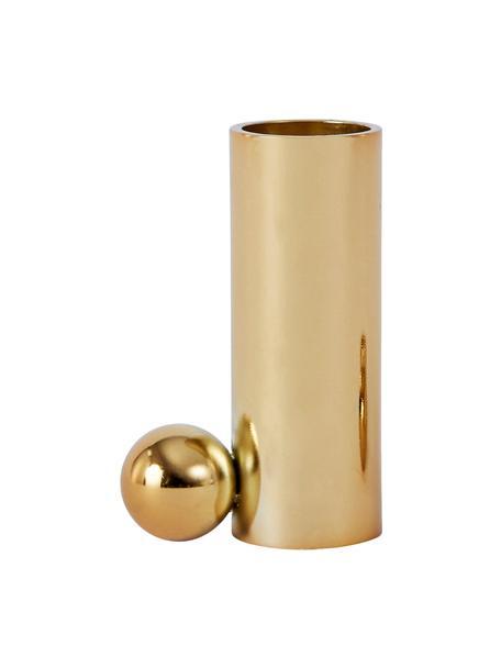 Świecznik Palloa, Metal powlekany, Odcienie złotego, S 5 x W 7 cm