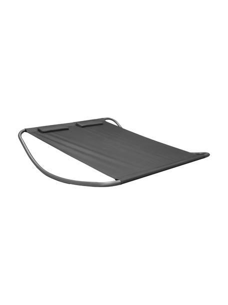 Tumbona de exterior Gordo, Estructura: metal con pintura en polv, Asiento: poliéster, Negro, L 200 x An 180 cm