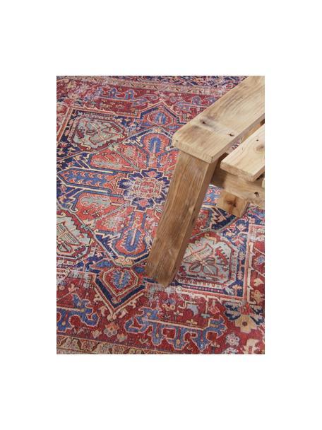 Chenille vloerkleed Paulo in vintage stijl, Bovenzijde: chenille draad (polyester, Rood, blauw, beige, B 120 x L 170 cm (maat S)