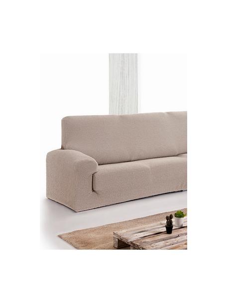 Pokrowiec na sofę narożną Roc, 55% poliester, 35% bawełna, 10% elastomer, Beżowy, S 600 x W 120 cm