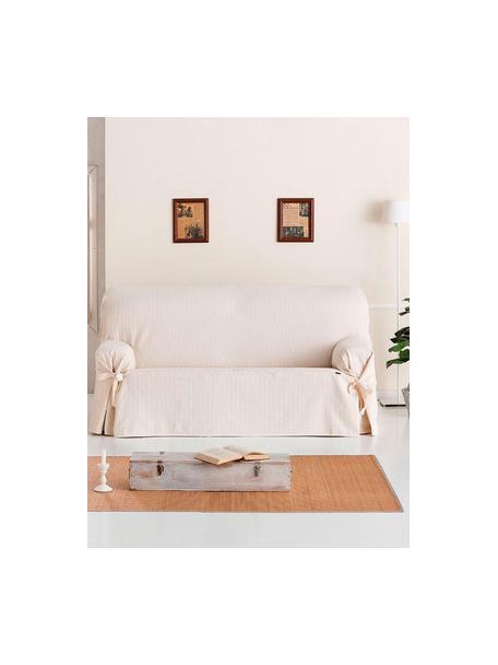 Funda de sofá Bianca, 100%algodón, Crema, 2 plazas (160 x 110 cm)