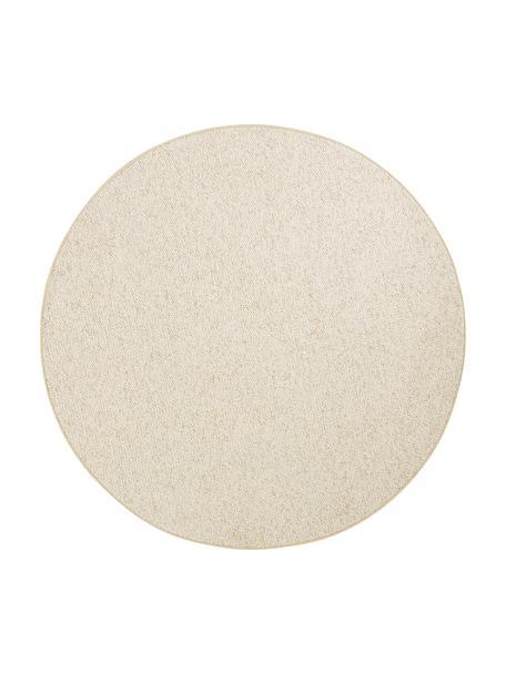 Rond vloerkleed Lyon met lussenpool, Bovenzijde: 100% polypropyleen, Onderzijde: vlies, Gemengd crèmekleurig, Ø 133 cm (maat M)