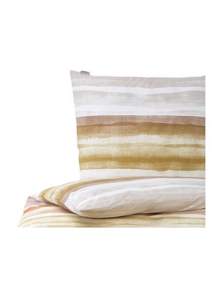 Gestreifte Baumwoll-Bettwäsche Colour Palette, 100% Baumwolle  Fadendichte 144 TC, Standard Qualität  Bettwäsche aus Baumwolle fühlt sich auf der Haut angenehm weich an, nimmt Feuchtigkeit gut auf und eignet sich für Allergiker, Mehrfarbig, 135 x 200 cm + 1 Kissen 80 x 80 cm