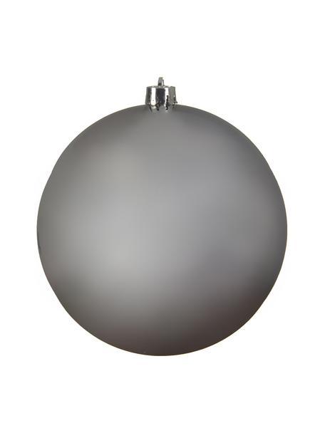 Bruchfeste Weihnachtskugel Stix Ø 20 cm, bruchfester Kunststoff, Silberfarben, Ø 20 cm
