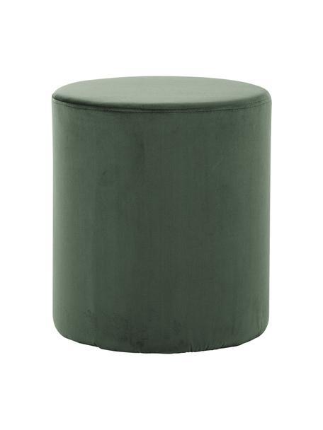 Puf de terciopelo Daisy, Tapizado: terciopelo (poliéster) Al, Estructura: madera contrachapada, Verde, Ø 38 x Al 45 cm