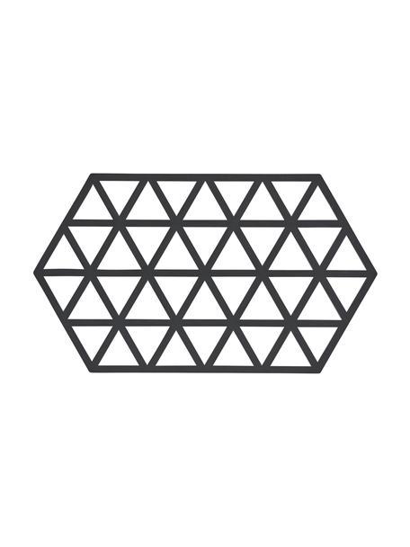 Silikon Topfuntersetzer Triangle in Schwarz, Silikon, Schwarz, 14 x 24 cm
