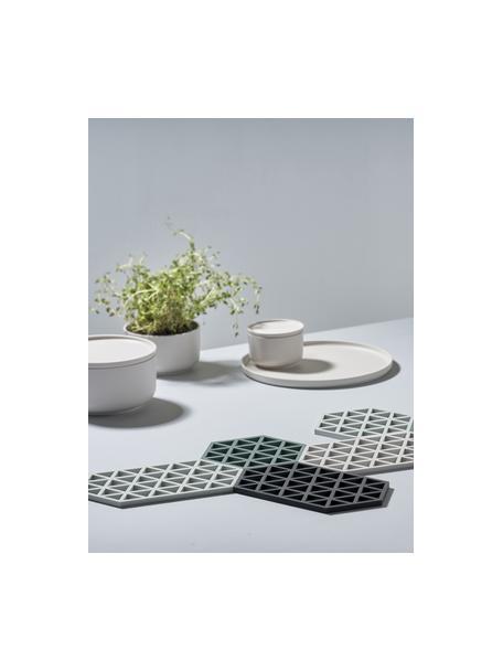 Salvamanteles de silicona Triangle, Silicona, Negro, L 24 x An 14 cm