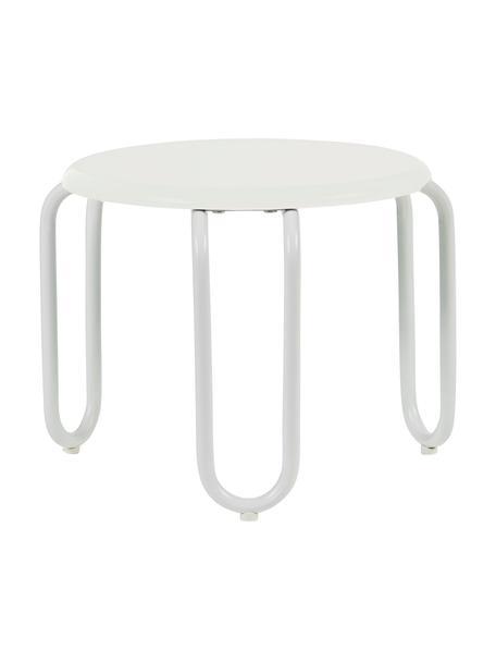 Hocker Linus, Sitzfläche: Mitteldichte Holzfaserpla, Beine: Stahl, lackiert, Weiß, Ø 30 x H 25 cm