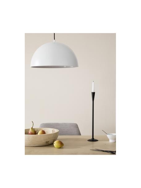 Moderne hanglamp Kia van metaal, Lampenkap: gecoat metaal, Baldakijn: gecoat metaal, Wit, Ø 40 x H 20 cm