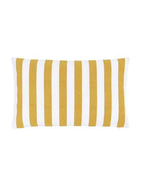 Gestreifte Kissenhülle Timon in Gelb/Weiß, 100% Baumwolle, Gelb, 30 x 50 cm