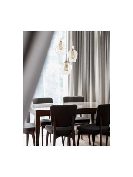 Cluster hanglamp Filo, Transparant, messingkleurig, Ø 36 cm