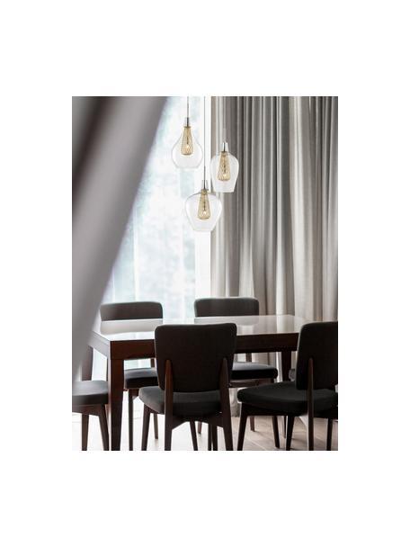 Lampada a sospensione in vetro Filo, Baldacchino: metallo cromato, Trasparente, ottonato, Ø 36