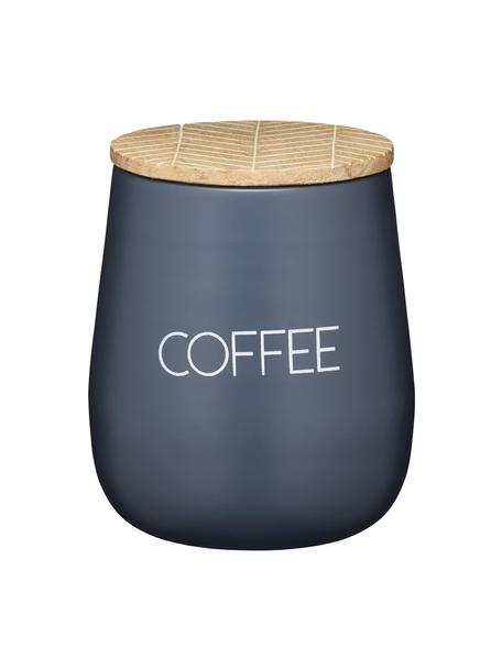 Barattolo con coperchio Serenity Coffee, Coperchio: legno di mango, Antracite, legno, Ø 13 x Alt. 15 cm