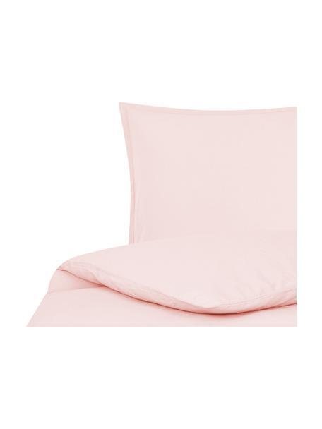 Linnen dekbedovertrek Nature, 52% linnen, 48% katoen Met stonewash-effect voor een zachte grip, Roze, 140 x 200 cm