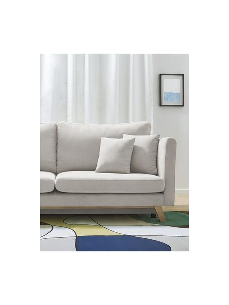 Sofá cama Triplo (3plazas), con espacio de almacenamiento, Tapizado: 100%poliéster con tacto , Patas: metal pintado, Estructura: madera maciza, aglomerado, Beige, An 216 x F 105 cm