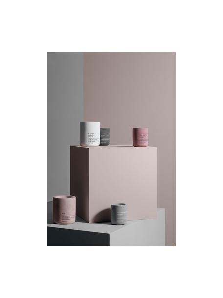 Duftkerze Fraga (Salbei & Kräuter), Behälter: Beton, Lavendel & Kräuter, Ø 7 x H 8 cm