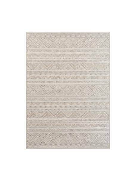 Vloerkleed Lisa met ethnopatroon in crèmekleur/beige, 48% jute, 43% wol, 9% viscose, Beige, crèmekleurig, B 140 x L 200 cm (maat S)