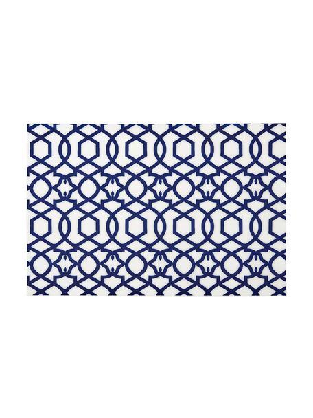 Kunststoffen placemats Tropic, 4 stuks, Kunststof (PVC), Donkerblauw, 30 x 45 cm