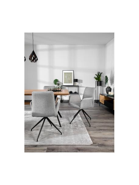 Silla giratoria tapizada Naya, Tapizado: poliéster Alta resistenci, Estructura: metal con pintura en polv, Tejido gris claro, An 59 x F 59 cm