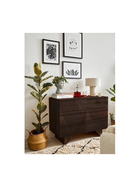 Ladekast Louis van massief mangohout, Mangohout, 100 x 75 cm