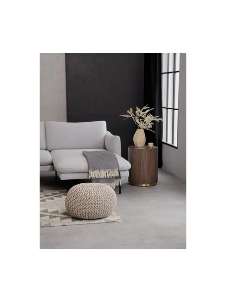 Mesa auxiliar redonda en nogal Clarice, Estructura: tablero de fibras de dens, Nogal, Ø 40 x Al 50 cm