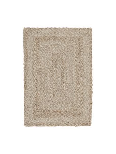 Handgemaakt juten vloerkleed Sharmila, Beige, 60 x 90 cm