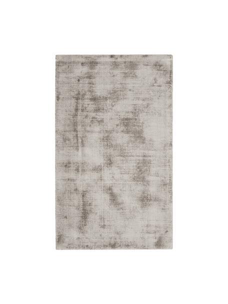 Tappeto in viscosa color taupe tessuto a mano Jane, Vello: 100% viscosa, Retro: 100% cotone, Taupe, Larg. 90 x Lung. 150 cm (taglia XS)