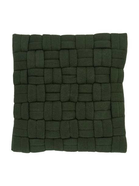 Federa arredo verde scuro Norman, Verde, Larg. 40 x Lung. 40 cm