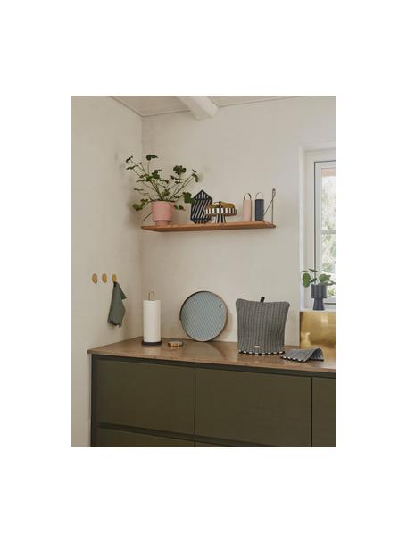 Ręcznie wykonana osłonka na doniczkę z ceramiki Ika, Ceramika, Blady różowy, Ø 15 x W 16 cm
