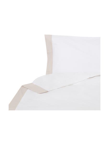 Funda nórdica Camalisa, Algodón El algodón da una sensación agradable y suave en la piel, absorbe bien la humedad y es adecuado para personas alérgicas, Blanco, crema, Cama 90 cm (160 x 220 cm)