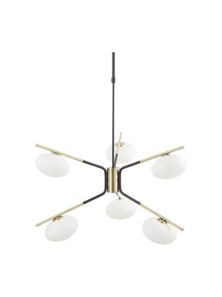 Lámpara de techo grande de diseño Guna, Anclaje: metal con pintura en polv, Cable: plástico, Negro, latón mate, Ø 70 cm