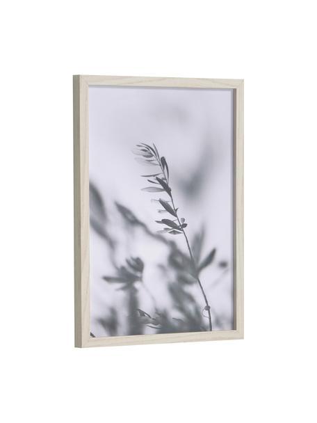 Gerahmter Digitaldruck Makena, Rahmen: Mitteldichte Holzfaserpla, Bild: Papier, Grautöne, 30 x 40 cm