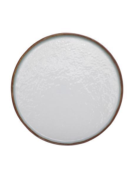Piatto piano in gres Plato 4 pz, Gres, Marrone, bianco, Ø 28 cm