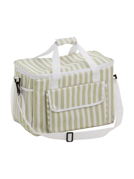 Picknick-Kühltasche Clair, Bezug: Polyester, Beige, gebrochenes Weiß, 42 x 30 cm