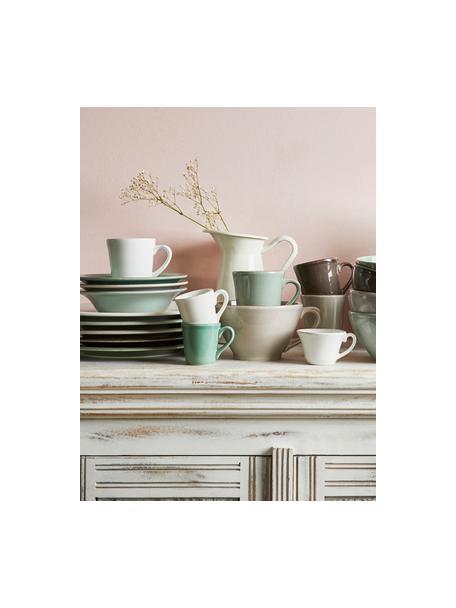 Tassen Constance im Landhaus Style, 2 Stück, Steingut, Hellgrau, Ø 9 x H 10 cm