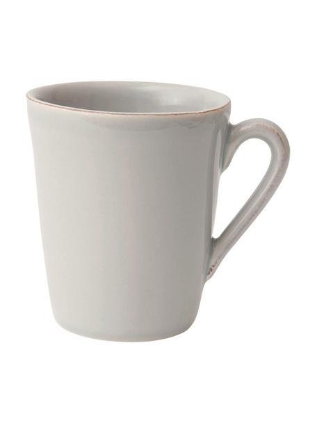 Tazas de café Constance, 2uds., estilo rústico, Gres, Gris claro, Ø 9 x Al 10 cm