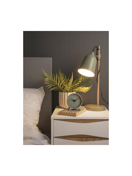Sveglia Index, Metallo rivestito, Nero, verde, Ø 11 cm