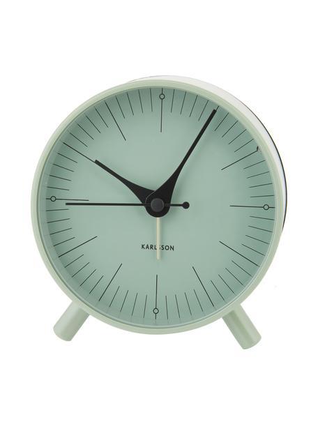 Wekker Index, Gecoat metaal, Zwart, groen, Ø 11 cm