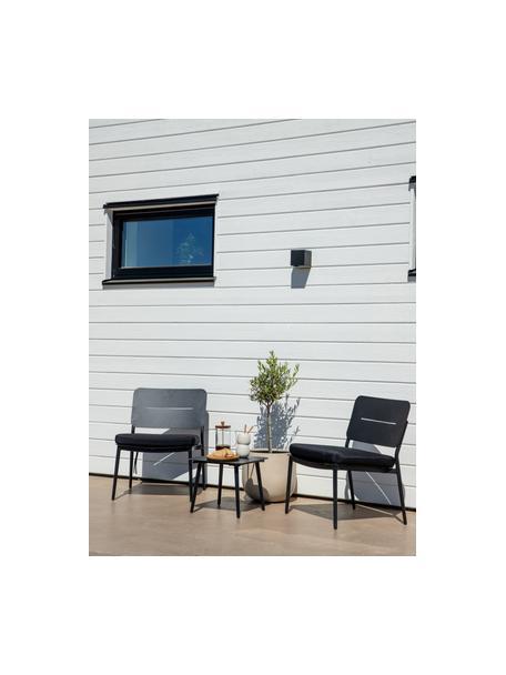 Sedia a poltrona da giardino in metallo nero Lina, Metallo verniciato, Nero, Larg. 55 x Prof. 59 cm