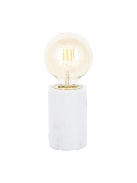 Lampada da tavolo in marmo Siv, Base della lampada: marmo, Bianco, Ø 6 x Alt. 10 cm