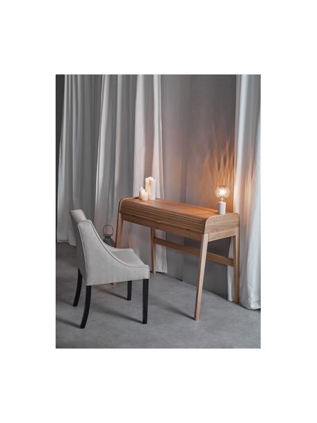 Kleine Marmor-Tischlampe Siv, Lampenfuß: Marmor, Weiß, Ø 6 x H 10 cm