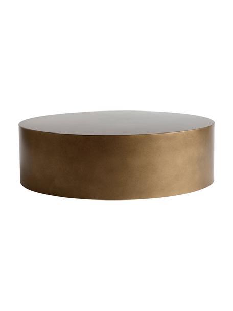 Tavolino rotondo da salotto in metallo color miele Metdrum, Metallo, Color miele, Ø 85 x Alt. 25 cm