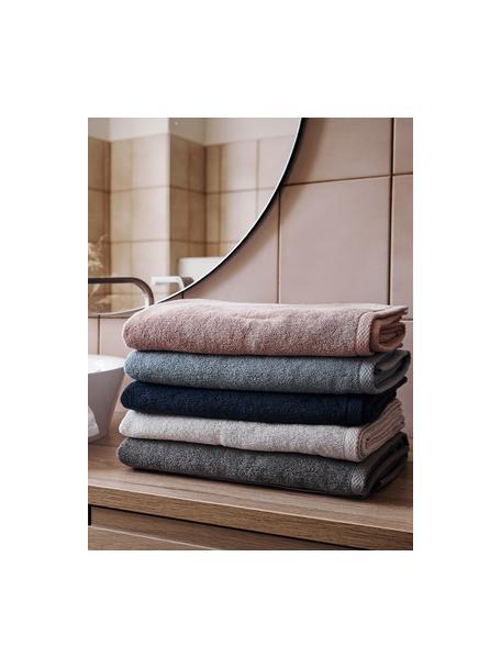 Eenkleurige handdoekenset Comfort, 3-delig, Oudroze, Set met verschillende formaten