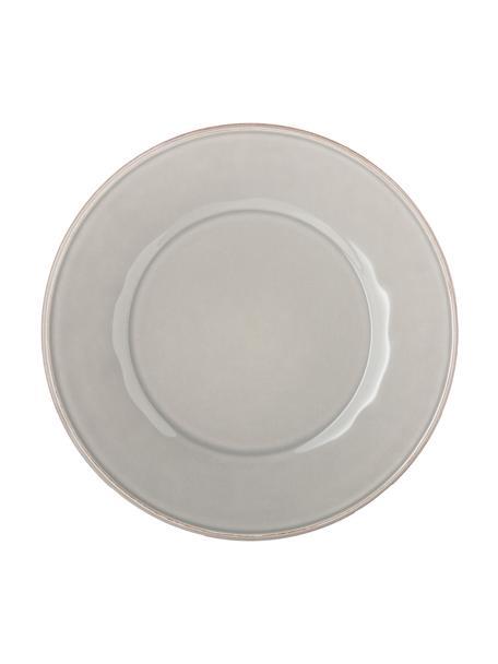Platos llanos Constance, 2uds., estilo rústico, Cerámica, Gris claro, Ø 29 cm