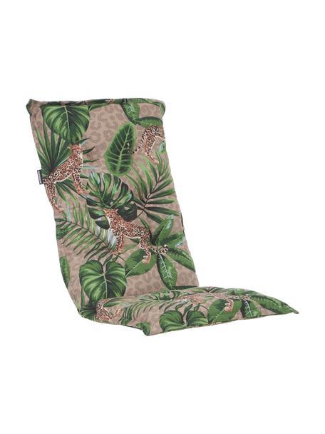 Cojín para silla con respaldo Lenny, Tapizado: 50%algodón, 45%poliéste, Azul, tonos beige y verdes, An 50 x L 123 cm